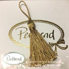www.perltrend.com Perltrend Schweiz Luzern Perlen Beads Crystals Edelsteine Schmuckzubehör Schmuckverarbeitung Verarbeitungsmaterial basteln Dekoration Quasten bronze bronzefarben glänzend golden