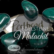 Edelstein Edelsteine Malachit Perlen www.perltrend.com Gemstone Perltrend Luzern Schweiz grün mit Struktur Schmuck Heilstein Natur Schmuckdesign grün smaragdgrün