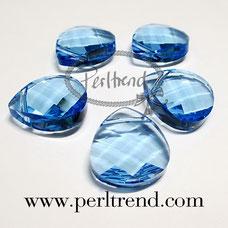 Perltrend Luzern Schweiz Onlineshop Schmuck Perlen Accessoires Verarbeitung Design Swarovski Crystals Crystal original Briolette Flat Pear Pendant Anhänger pendants