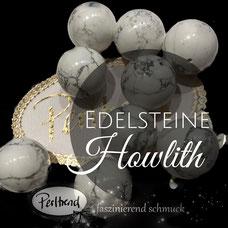 www.perltrend.com Edelsteine Gemstones Steine Perlen Heilsteine Schmuck Schmuckdesign Perltrend Luzern Schweiz Onlineshop Perle Schmuckstein  Howlith weiss grau beige