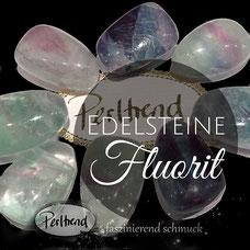 Edelstein Fluorit Anhänger www.perltrend.com Edelsteine Gemstones Steine Perlen Heilsteine Schmuck Schmuckdesign Perltrend Luzern Schweiz Onlineshop grün violett lila