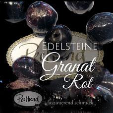 www.perltrend.com Perltrend Luzern Schweiz Onlineshop $chmuck Perlen Schmuckdesign Edelsteine Edelstein Gemstone Heilsteine Schmuckstein Edelsteinperlen Granat garnet Rot rot dunkelrot Pyrop