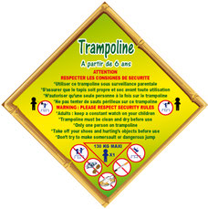 Panneau en losange règlement trampoline