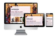Homepage der Boutique Twinny's in Gütersloh