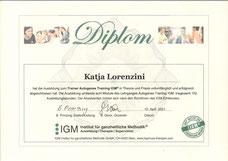 Diplom Hypnosetherapeutin VSH
