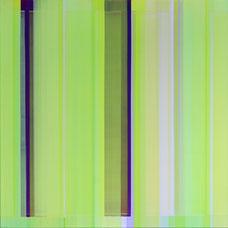 """Elisabeth Sonneck  """"Mäander 6-3"""" 100 x 100 cm Öl auf Leinwand 2014"""