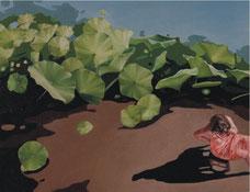 "Jennifer Nehrbass,   ""Liliy Matters"", Öl auf Leinwand, 42,5 x 55 cm"