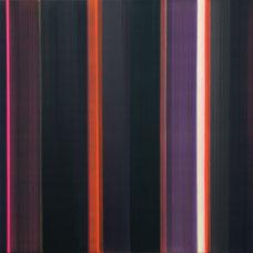 """Elisabeth Sonneck """"vibraphon 7-1"""", 2007 Öl auf Leinwand 100x100cm"""