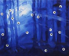 "Ronald Kodritsch,  ""o.T."" (Wald), Öl auf Leinwand, 35x 45cm, 2013"