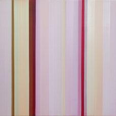 """Elisabeth Sonneck """"vibraphon 5-1"""", 2007 Öl auf Leinwand 100x100cm"""