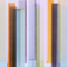 """Elisabeth Sonneck, """"Mäander 11-2"""", 100 x 100 cm Öl auf Leinwand 2015"""