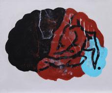 "Dietmar Brehm  ""Hirn"", Öl auf Leinwand 50x60cm, 2001"