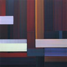 "Elisabeth Sonneck, ""Langsame Züge"", 2007, Öl auf Leinwand, 100x100cm"