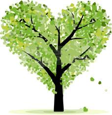 Grüner Herz Baum