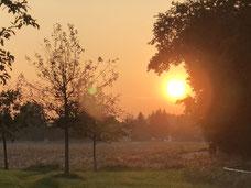 Unverhoffter Sonnenuntergang