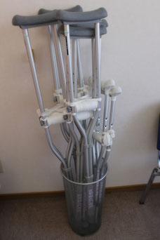 おおつか接骨院の松葉杖