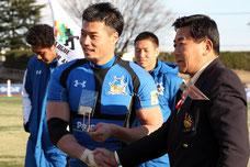 マン・オブ・ザ・マッチには山田章仁選手が選ばれた