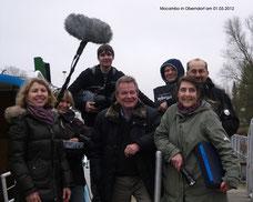 Das NDR-Drehteam, Wolfgang Röhl, Julia Pubanz und Peter Trautmann