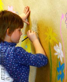cours d'art pour enfants stages de peinture, creuse en famille