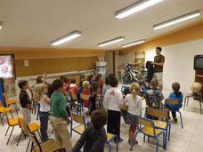 Présentation aux classes de Saint-Bauzille