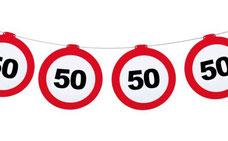Vlaggenlijn verkeersbord 50 12 m papier € 2,99