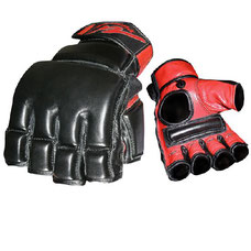 MMA LEATHER BAG AND MITTS GLOVES for boxing and martial arts training