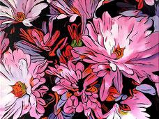 Terassen Blumen in Acryl