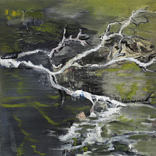 树魂 TREE SPIRIT 40X40CM 布面油画  OIL ON CANVAS 2019