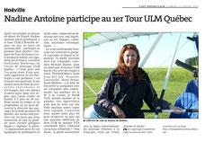 /Nadine Antoine participe au 1er Tour ULM Québec - 11/07/2015