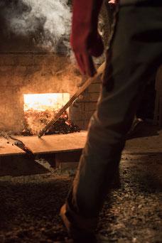 """Noborigama de """"Caco et Sylvie"""" à """"Bouquet de Flammes"""" ...cuisson en cours ...à l'alandier ..."""