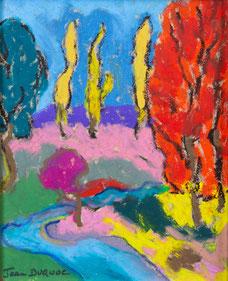 Chemin d'automne. 22x26 cm