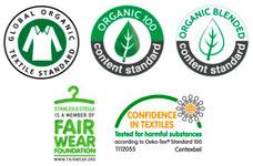 labels coton biologique
