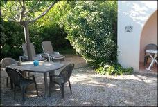 Jardin privatif de la location saisonnière