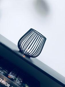 bougeoir noir, bougie design, bougeoir design, photophore design, home decor