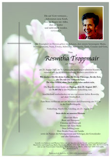 Parte Troppmair Roswitha +23.8.17