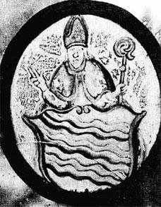 Wappen der Stadt Billerbeck mit dem hl. Ludgerus