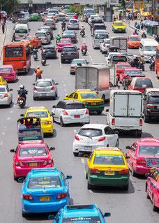 Autofahren in Bangkok