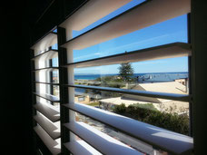 Vinyl Plantation Shutters at beach
