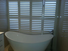 Vinyl Window Shutters in bathroom
