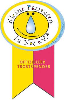 "Plakette ""Offizieller Trostspender"" - Kleine Patienten in Not e.V."