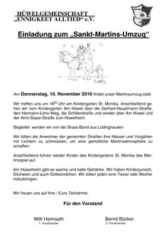 Do, 10.Nov. 18Uhr Martins-Umzug