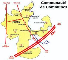 Plan du canton de Tessy sur Vire