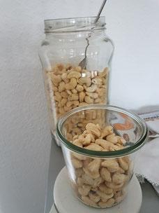 Leckere Cashews zum Naschen