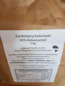 Faire Bio-Schokolade von fairafric