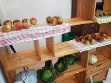 Apfelsorten vorsortiert