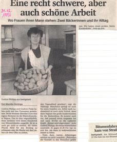 Bild: Seeligstadt Bäckerei Chronik 1996