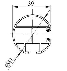 Typ 5 - Schwere Schiene rund 1-fach