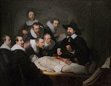 Rembrandt, La Leçon d'anatomie du docteur Tulp, 1632.