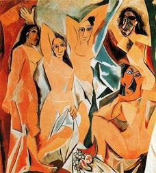 Picasso, Les demoiselles d'Avignon, 1907. Domaine public. Source : Wikiart.