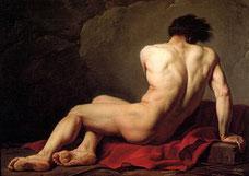 Jacques Louis David, Académie d'homme, dit Patrocle, 1778. Cherbourg, Musée Thomas-Henry.